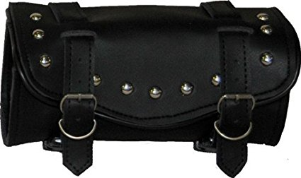 Synthetic Black Leather Studded 2 Quick Release Buckle Amplifier Bag