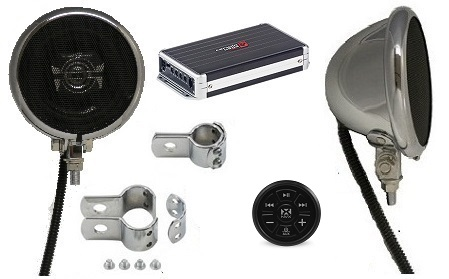 1000 Watt Motorcycle Speaker System CHROME BLUETOOTH EDITION
